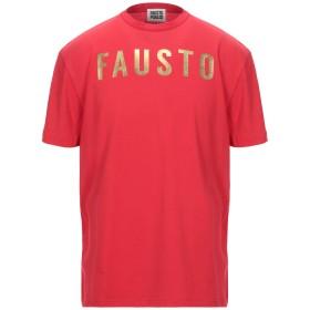 《セール開催中》FAUSTO PUGLISI メンズ T シャツ レッド S コットン 100% / ポリウレタン