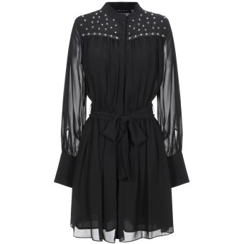 《セール開催中》FRANKIE MORELLO レディース ミニワンピース&ドレス ブラック 40 ポリエステル 100%