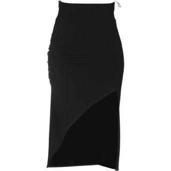 《セール開催中》ELISABETTA FRANCHI レディース ひざ丈スカート ブラック 44 ポリエステル 89% / ポリウレタン 11%