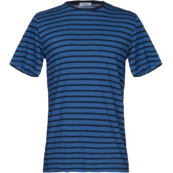 《セール開催中》CROSSLEY メンズ T シャツ ブライトブルー S コットン 100%