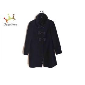 ジーザスディアマンテ コート サイズ40 M レディース 美品 黒 冬物/ファー/リボン  値下げ 20200104