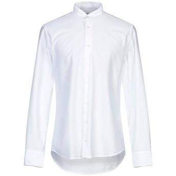 《セール開催中》BASTONCINO メンズ シャツ ホワイト 38 コットン 100%