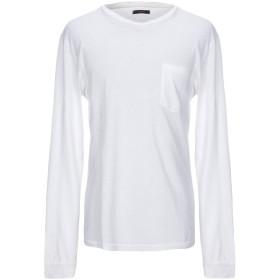 《セール開催中》TRUE NYC. メンズ T シャツ ホワイト M コットン 70% / 麻 30%