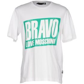 《セール開催中》LOVE MOSCHINO メンズ T シャツ アイボリー M コットン 100%