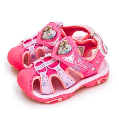 Disney 迪士尼 冰雪奇緣 FROZEN 護趾電燈涼鞋 粉桃紅 94103