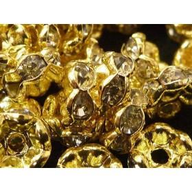 アクセサリーパーツ 波ロンデル ゴールド 約6mm 【約50個入り】 6000057