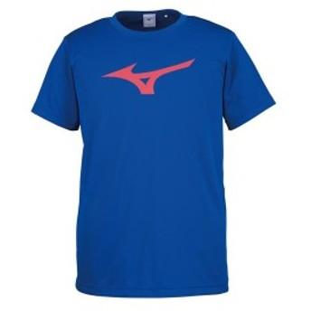 ◆◆送料無料 メール便発送 <ミズノ> MIZUNO Tシャツ[ユニセックス] 32JA8155 (25:サーフブルー×レッド)