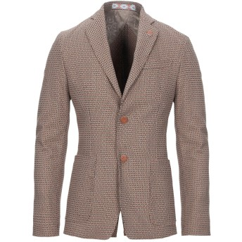 《セール開催中》HAVANA & CO. メンズ テーラードジャケット ブラウン 48 コットン 53% / ポリエステル 29% / レーヨン 16% / ポリウレタン 2%