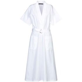 《セール開催中》DEPARTMENT 5 レディース 7分丈ワンピース・ドレス ホワイト L コットン 100%
