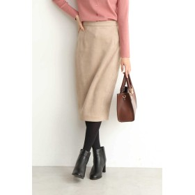 【公式/エヌ ナチュラルビューティーベーシック】スモーキーカラーピーチタイトスカート/女性/スカート/ベージュ/サイズ:M/ポリエステル 96% ポリウレタン 4%