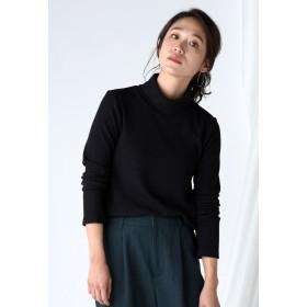 LIPSTAR 起毛テレコハイネックカットソー Tシャツ・カットソー,ブラック