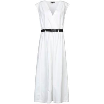 《セール開催中》HACHE レディース ロングワンピース&ドレス ホワイト 44 コットン 97% / ポリウレタン 3%
