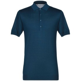 《セール開催中》PAOLO PECORA メンズ ポロシャツ ディープジェード M シルク 70% / コットン 30%