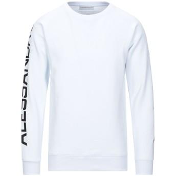 《セール開催中》ALESSANDRO DELL'ACQUA メンズ スウェットシャツ ホワイト XL コットン 100%