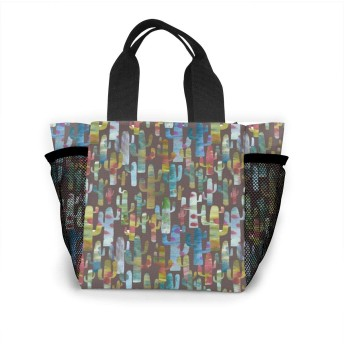 カラフルな個人のサボテン トートバッグ 買い物バッグ レディース おしゃれ バッグ ハンドバッグ エコバッグ 人気 ランチバッグ