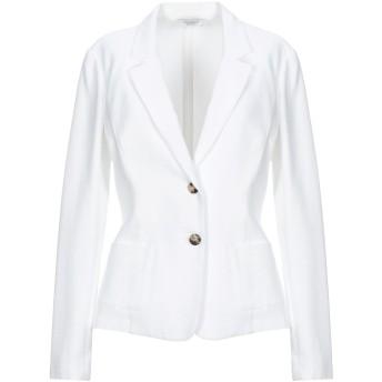 《セール開催中》PESERICO レディース テーラードジャケット ホワイト 42 コットン 49% / レーヨン 47% / ポリウレタン 4%