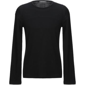 《セール開催中》ERMANNO DI ERMANNO SCERVINO メンズ T シャツ ブラック 50 レーヨン 49% / バージンウール 43% / ナイロン 8%