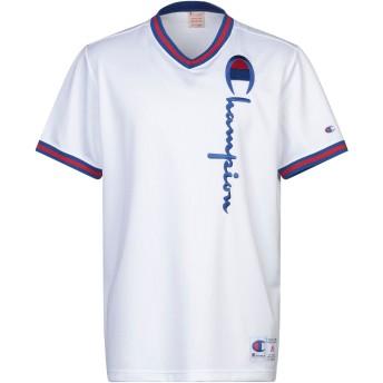 《セール開催中》CHAMPION メンズ T シャツ ホワイト S ポリエステル 100%