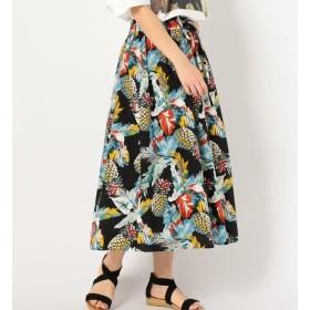 【シップス/SHIPS】 Khaju:トロピカルギャザースカート