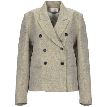 《セール開催中》MAURO GRIFONI レディース テーラードジャケット イエロー 40 コットン 75% / ナイロン 14% / 金属化ポリエステル 11%