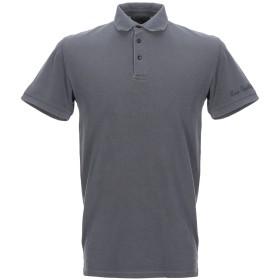 《セール開催中》BOMBOOGIE メンズ ポロシャツ 鉛色 S コットン 100%