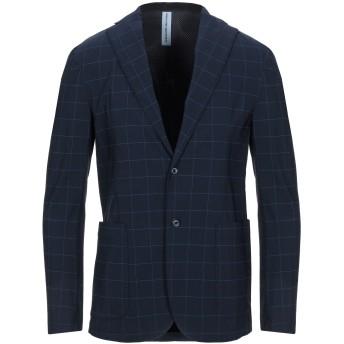 《セール開催中》ALESSANDRO DELL'ACQUA メンズ テーラードジャケット ダークブルー 46 レーヨン 75% / ナイロン 20% / ポリウレタン 5%
