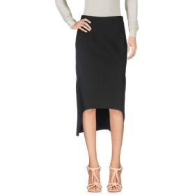 《セール開催中》MARNI レディース ひざ丈スカート ブラック 40 コットン 100%