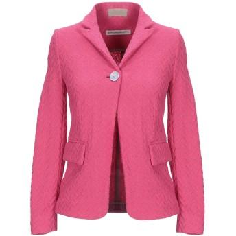 《セール開催中》NEW YORK INDUSTRIE レディース テーラードジャケット フューシャ 40 コットン 65% / ポリエステル 13% / ナイロン 13% / 指定外繊維 9%