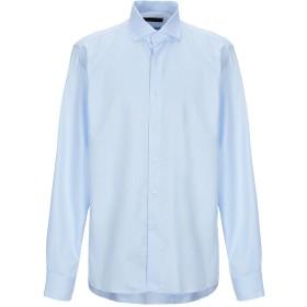 《セール開催中》TRU TRUSSARDI メンズ シャツ アジュールブルー 43 コットン 100%