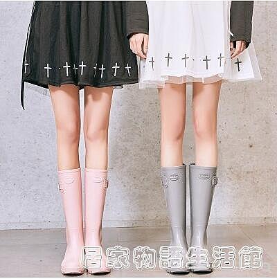 女士水鞋高筒冬季雨鞋女時尚款外穿防水長筒雨靴加絨保暖水靴防滑
