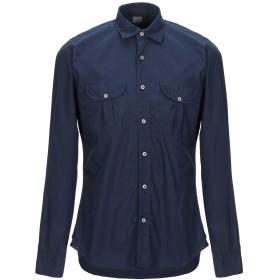 《セール開催中》XACUS メンズ シャツ ダークブルー 40 コットン 100%