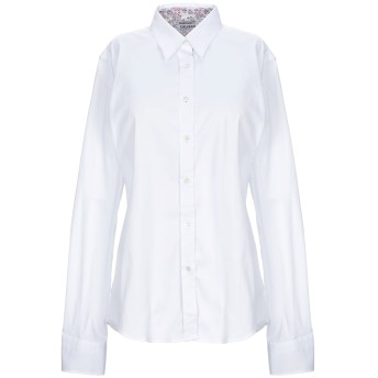 《セール開催中》CALIBAN レディース シャツ ホワイト 48 コットン 70% / ナイロン 27% / ポリウレタン 3%