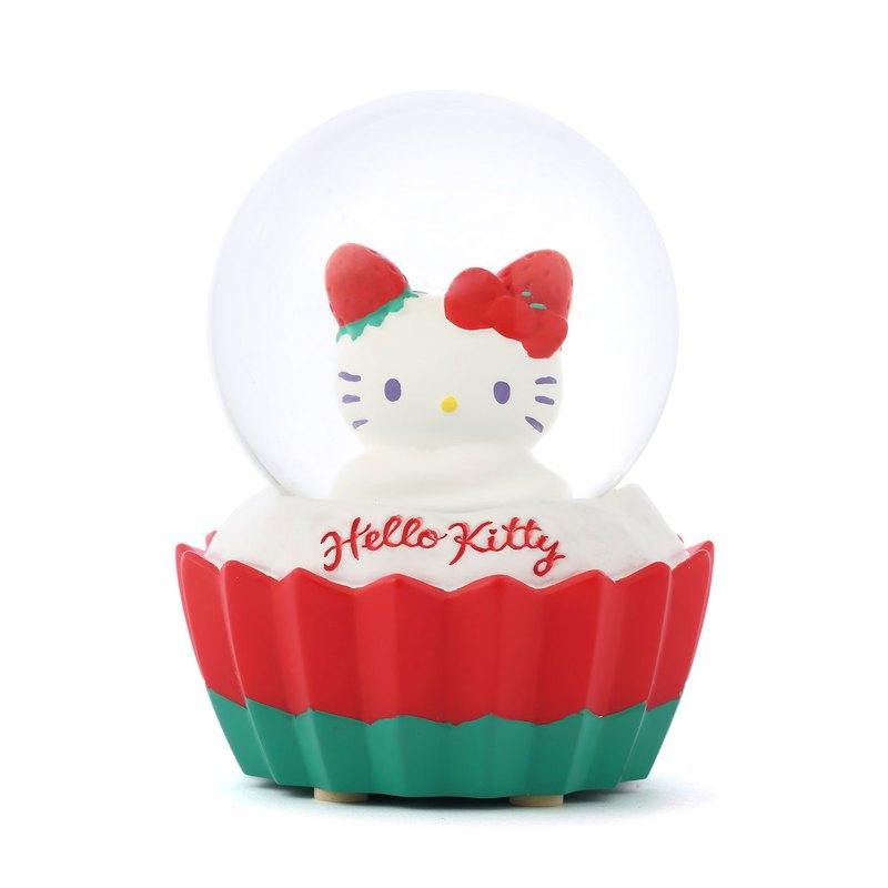 Hello Kitty 草莓甜心 水晶球擺飾 生日情人節 聖誕交換禮物 療癒