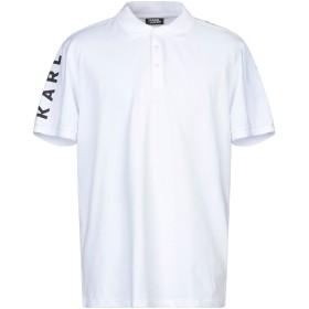 《セール開催中》KARL LAGERFELD メンズ ポロシャツ ホワイト XL コットン 95% / ポリウレタン 5%