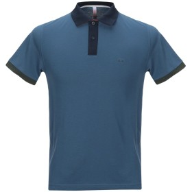 《セール開催中》SUN 68 メンズ ポロシャツ ブルー S コットン 95% / ポリウレタン 5%