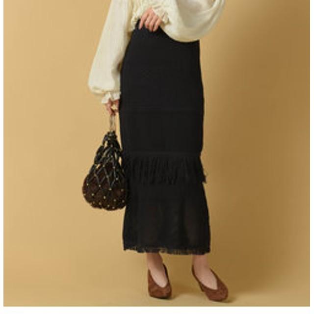 【SALE/送料無料】【J Lounge:スカート】クロシェスカート