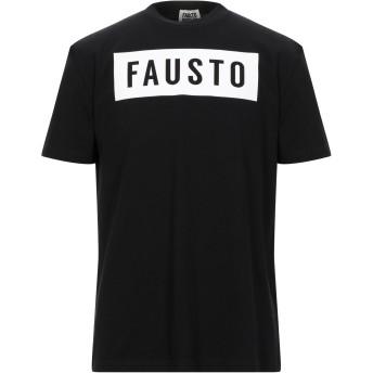 《セール開催中》FAUSTO PUGLISI メンズ T シャツ ブラック S コットン 100% / ポリウレタン