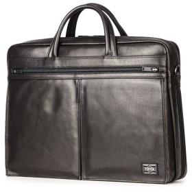 カバンのセレクション 吉田カバン ポーター アメイズ ビジネスバッグ メンズ ブランド 本革 拡張 2WAY A4 PORTER 022 03785 ユニセックス ブラック フリー 【Bag & Luggage SELECTION】
