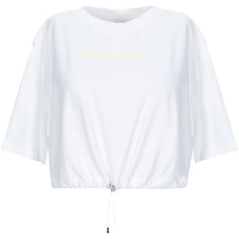 《セール開催中》MARCELO BURLON レディース T シャツ ホワイト XS コットン 100% / ポリウレタン / ポリエステル