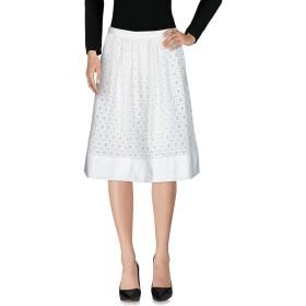 《セール開催中》BOUTIQUE MOSCHINO レディース ひざ丈スカート ホワイト 38 ナイロン 95% / 指定外繊維 5% / コットン