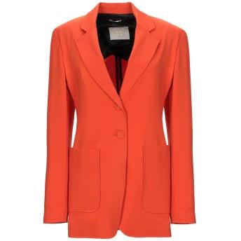 《セール開催中》TRUE ROYAL レディース テーラードジャケット オレンジ 42 レーヨン 65% / ナイロン 30% / ポリウレタン 5%