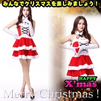 クリスマス 仮装 コスプレ コスチューム 可愛い サンタクロース レディース ワンピース サンタ 変装