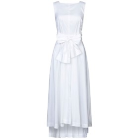 《セール開催中》LIVIANA CONTI レディース ロングワンピース&ドレス ホワイト 42 コットン 68% / ナイロン 28% / ポリウレタン 4%