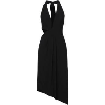《セール開催中》HALSTON レディース 7分丈ワンピース・ドレス ブラック 0 ポリエステル 95% / ポリウレタン 5%