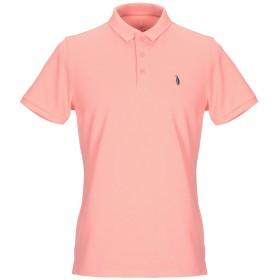 《セール開催中》WALTBAY メンズ ポロシャツ サーモンピンク S オーガニックコットン 100%