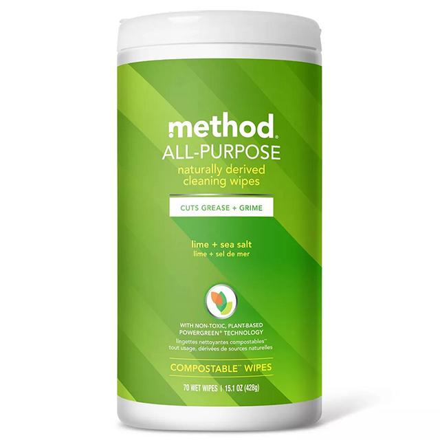 method美則全效居家清潔濕紙巾-萊姆海鹽 70入