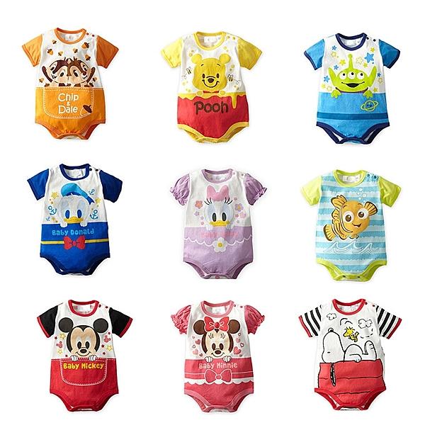 奇奇蒂蒂/黛西/維尼n圖樣可愛的迪士尼寶寶系列包屁衣正流行!n材質:綿n現貨+預購7~15天