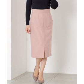 ミューズ リファインド クローズ ポケット付暖かタイトスカート レディース ピンクベージュ L 【MEW'S REFINED CLOTHES】