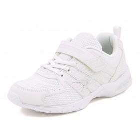 瞬足(シュンソク) キッズ スニーカー JJ-184 ホワイト/ホワイト運動靴 スクール(上履き/バレーシューズ)