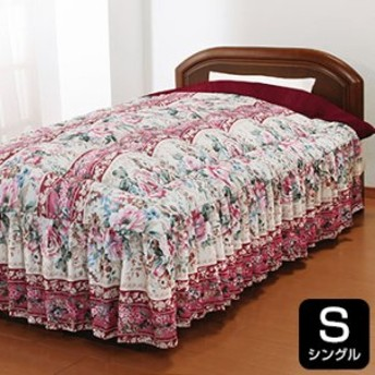 NiceSleep/ナイススリープ あったか3層構造ボリュームマイヤー毛布地 ベッド布団フリル付き シングル